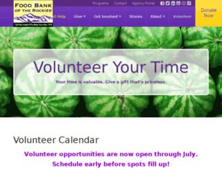 foodbankrockies.volunteermatrix.com screenshot