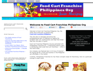 foodcartfranchisephilippines.org screenshot