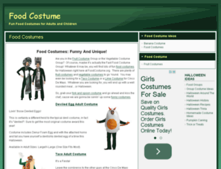 foodcostume.org screenshot