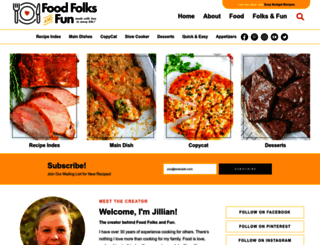 foodfolksandfun.net screenshot