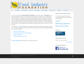 foodindustryfoundation.org screenshot