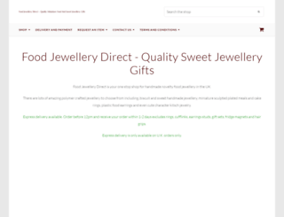 foodjewellerydirect.co.uk screenshot