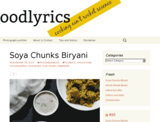 foodlyrics.com screenshot
