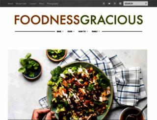 foodnessgracious.com screenshot