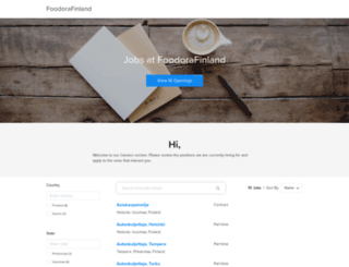 foodorafinland.recruiterbox.com screenshot