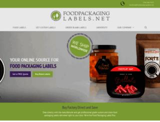 foodpackaginglabels.net screenshot