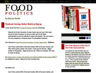 foodpolitics.com screenshot