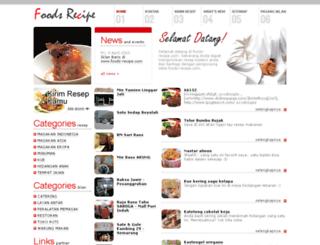 foods-recipe.com screenshot