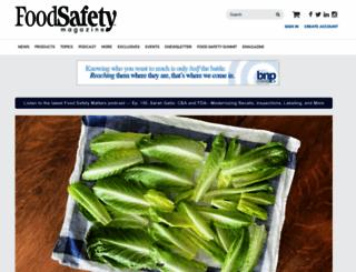 foodsafetymagazine.com screenshot