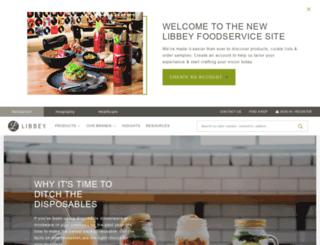 foodservice.libbey.com screenshot