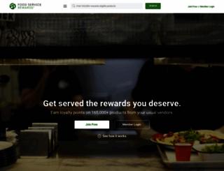 foodservicerewards.com screenshot