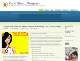 foodstampprogram.org screenshot