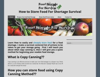 foodstorageforsurvival.wordpress.com screenshot