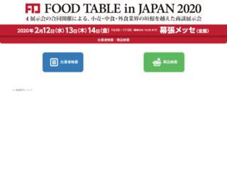 foodtable.jp screenshot