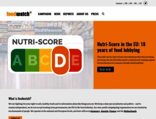 foodwatch.org screenshot