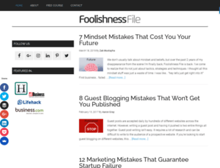 foolishnessfile.com screenshot