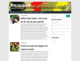 foot-allemand.com screenshot