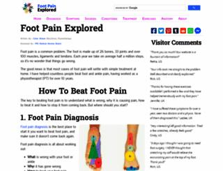 foot-pain-explored.com screenshot
