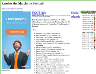 foot.resultats-dz.com screenshot
