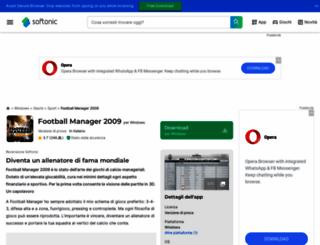 football-manager-2009.softonic.it screenshot