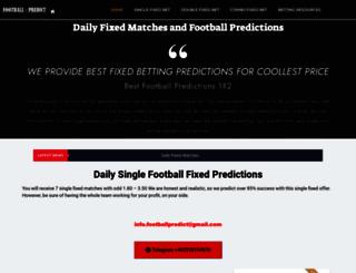 football-predict.com screenshot