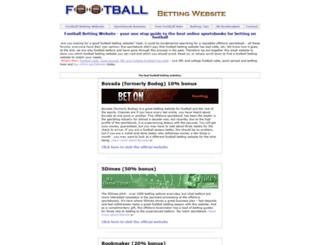 footballbettingwebsite.com screenshot
