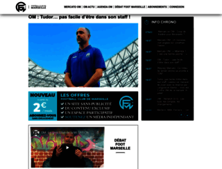 footballclubdemarseille.fr screenshot