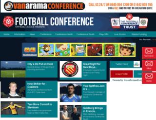 footballconference.co.uk screenshot