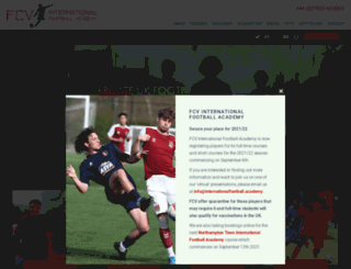 footballcvacademy.com screenshot