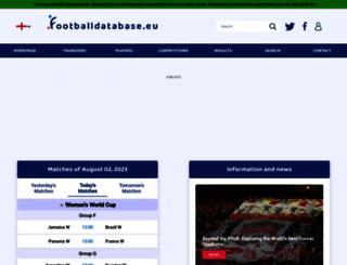 footballdatabase.eu screenshot