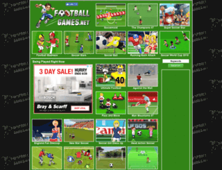 footballgames.net screenshot