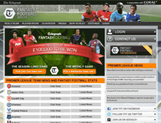 footballleaguefantasyfootball.com screenshot