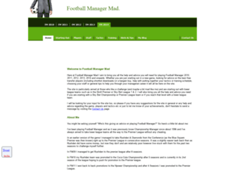 footballmanagermad.com screenshot