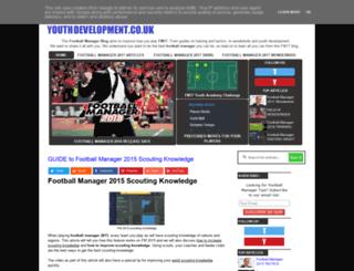 footballmanageryouthdevelopment.co.uk screenshot