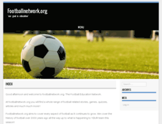 footballnetwork.org screenshot
