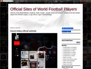 footballplayersites.blogspot.com screenshot