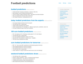footballpredictions.xyz screenshot