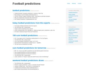 footballpredictions.xyz screenshot