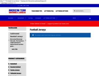 footballteamuniforms.com screenshot