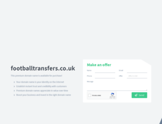 footballtransfers.co.uk screenshot