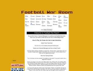 footballwarroom.com screenshot