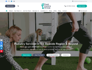 footcentregroup.com.au screenshot