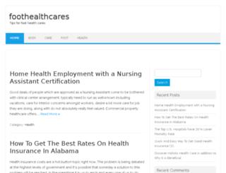 foothealthcares.com screenshot