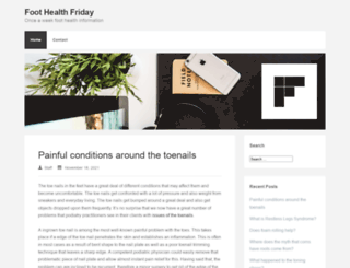 foothealthfriday.com screenshot