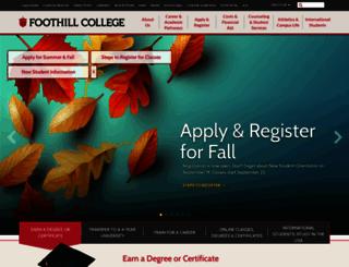 foothill.edu screenshot