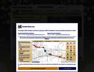 foothillgoldline.org screenshot