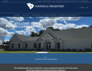 foothillspresbytery.org screenshot