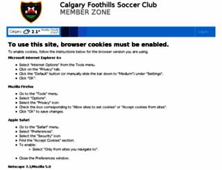 foothillssoccer.powerupsports.com screenshot