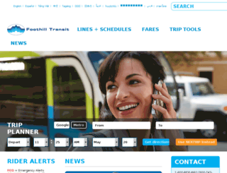 foothilltransit.com screenshot