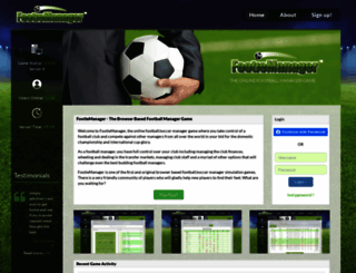 footiemanager.com screenshot